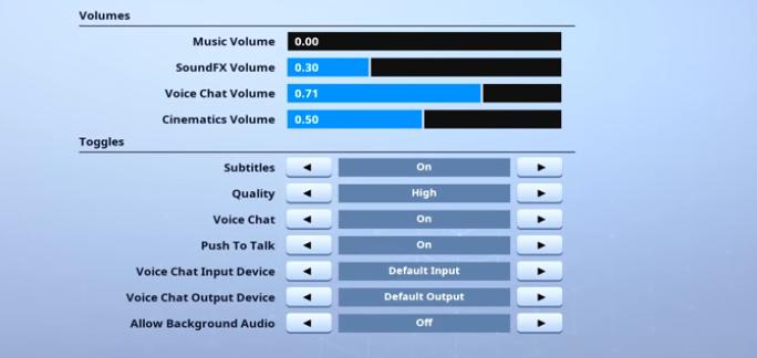 HighDistortion-Audio-setting