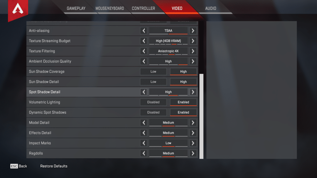 DrDisrespect Apex Legends Game Settings 2