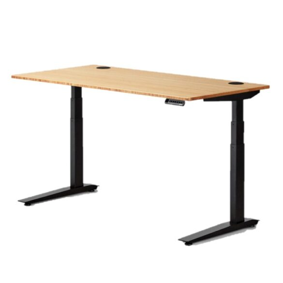 Jarvis Standing Desk Bamboo Top - Electric Adjustable Height Sit Stand Desk