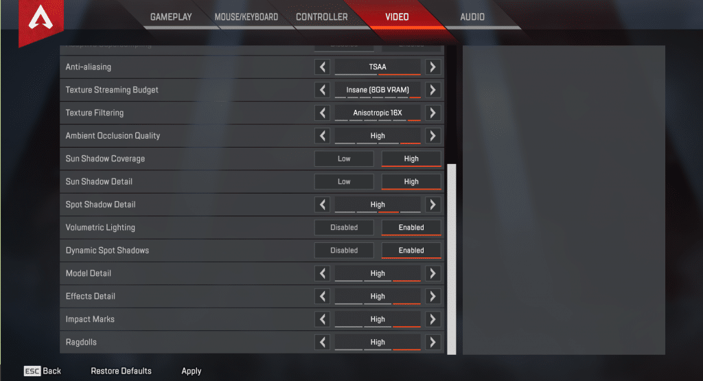 Ninja Apex Legends Video Settings 2
