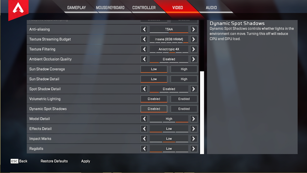 Shroud Apex Legends Settings Amp Keybinds Updated July 2019