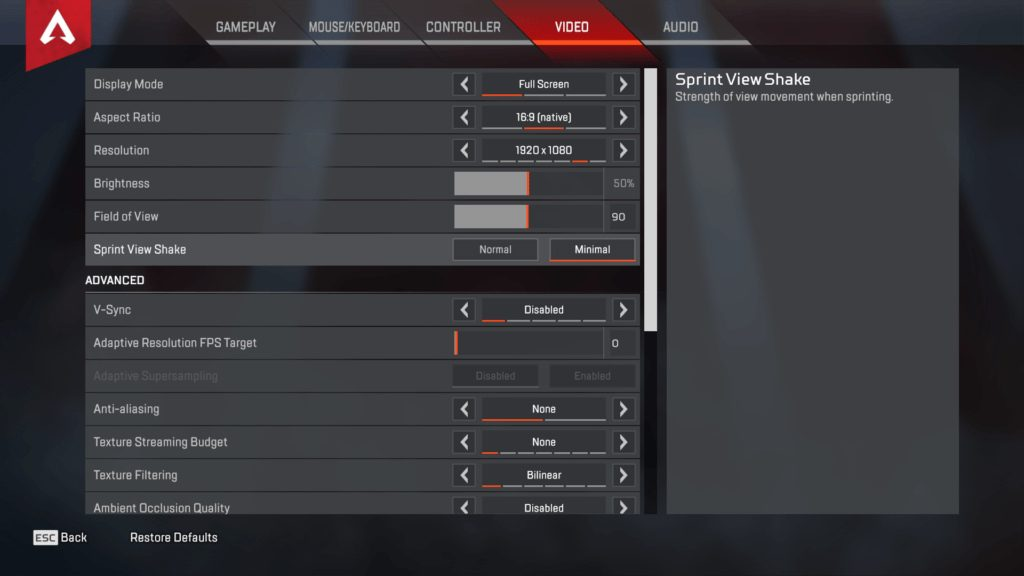 Shroud Apex Legends Settings Amp Keybinds Updated May 2020
