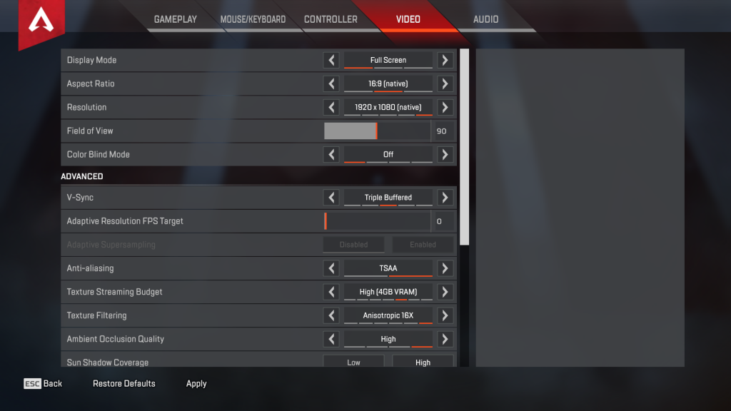 alanzoka apex legends settings