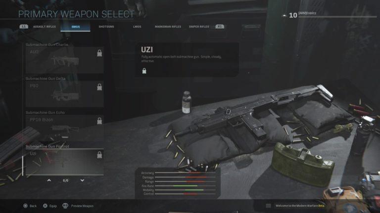 Call of Duty: Modern Warfare Guns