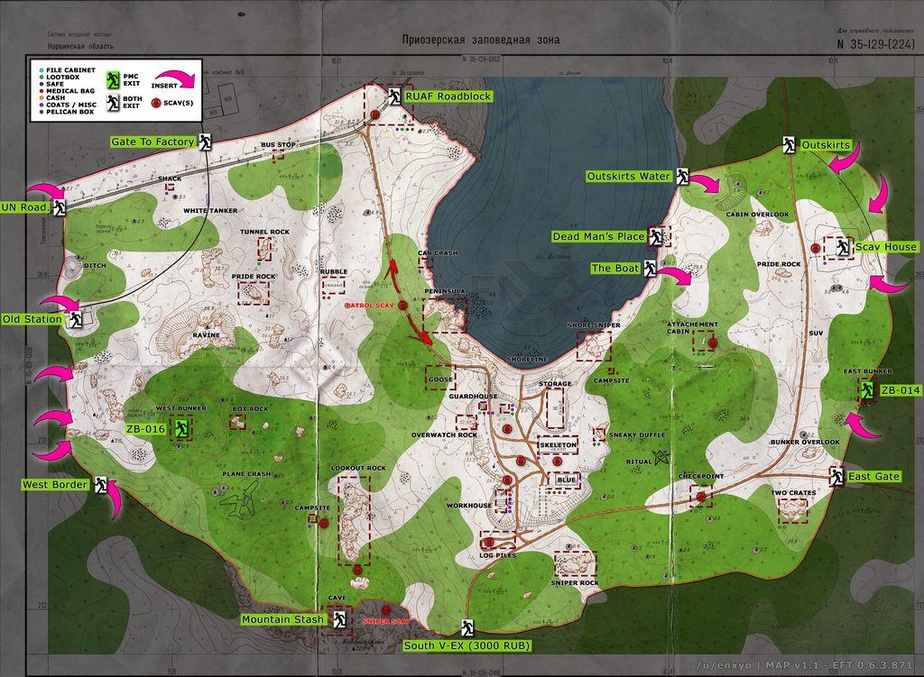 Escape from Tarkov map guide